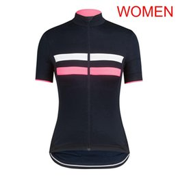 girls cycling jerseys Promo Codes - RAPHA Team women cycling jersey 2019 female bike clothing bicycle maillot girls summer breathable racing tops sports uniform Y051701