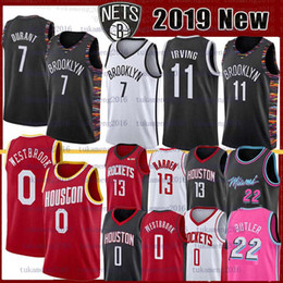 l basketball jerseys Promo Codes - 7 Kevin Durant 11 NCAA Kyrie college Irving Basketball Jersey Russell 0 Westbrook 8 Walker Jimmy 21 Butler James 13 Harden jerseys