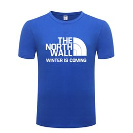 t shirt game throne Coupons - Game of Thrones THE NORTH WALL Men T Shirt T Shirts Men Cotton Short Sleeve Tshirt Streetwear Tee Shirt Fashion Summer T-Shirt