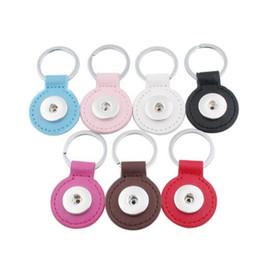 Ventas calientes 7 color Xinnver Snap llavero para llavero Unisex PU cuero llavero bolsa colgante Fit 18 / 20mm botón Snap joyería ZH019 desde fabricantes