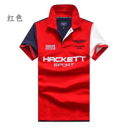 британское поло Скидка 2019 одежда New Men Рубашка поло Hacket SPORT Racing British Fashion Business Повседневная рубашки с коротким рукавом дышащая футболка поло HKT