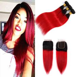 Rabatt Rote Haare Weft 2019 Menschenhaare Weiden Rot Im Angebot