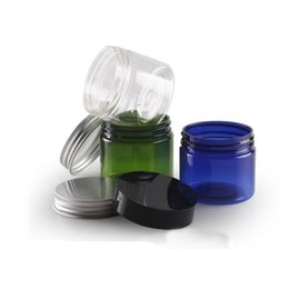 Пластиковые банки онлайн-5 шт. 50 г ПЭТ баночка с широкой горловиной бутылки (с внутренней крышкой) Алюминиевая крышка кремовой бутылки Пластиковая коробка для крема Косметическая розлив BQ035