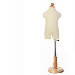 Mezzo busto bambino 1-2 anni Bambino realistico 1pc Manichini con tessuto circolare in legno tessuto abiti stropicciati, M00088A da si veste anni fornitori