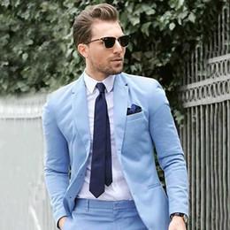 Cappotto di lana blu navy online-Abiti da uomo per lo sposo da sposa Smoking blu misto lana Prom Party Costume Homme 2Piece Cappotto pantaloni Slim Fit Terno Masculino trajes de hombre