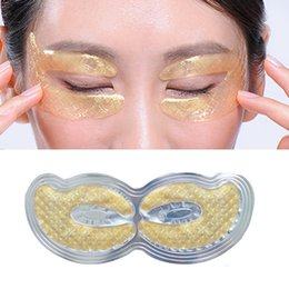 Remendos de rugas oculares on-line-EFERO 24K Gold Crystal Collagen Mask Eye Patches For Eyes Care Dark Circles Remove Eye Cream Anti-Aging Wrinkle Skin Care