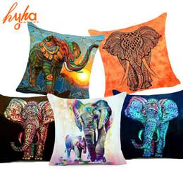 Housse de coussin en polyester Bohemia Elephant Indian Style 45x45cm Affection Animal Home Housse de coussin décoratif pour canapé de luxe ? partir de fabricateur