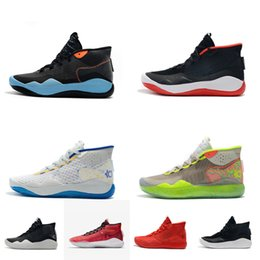 32eb70b555d7 Mens kd 12 basketball shoes new Easters Blue White Black Red high top boys  girls kids kd12 kevin durant xii sneakers boots with box size 5