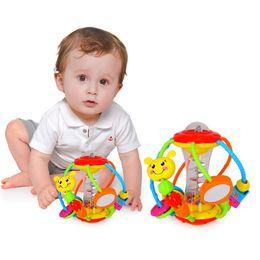 2019 bebê agarrando chocalhos Chocalhos brinquedos educativos para bebês Grasping Bola multifuncionais de Bell Balls Toy precoce Educacional Toy Toy chocalhos bebê agarrando chocalhos barato