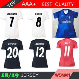 uniformes deportivos para Rebajas Real Madrid x EA Sports home azul Mujeres  ISCO blancas Camisetas de 82e0a897f38e8