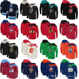 2021 chandail à capuchon de hockey 2018 New Style Hoodies Jersey Vegas Golden Knights Chicago Blackhawks Oilers d'Edmonton Canadiens de Montréal Maple Leafs de Toronto Hockey Maillots chandail à capuchon de hockey pas cher