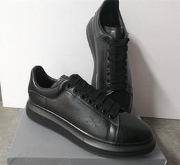 Modedesigner Schuhe 100% Kalbsleder Männer Übergroße Sneaker Luxus Frauen Flache Plattform Trainer Übergroße Gummisohle mit Box US 11 von Fabrikanten