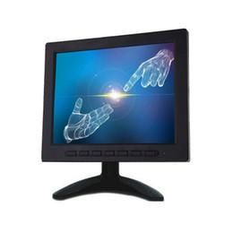 """Soporte de circuito cerrado de televisión online-8 """"TFT LCD Pantalla de monitor de video en color VGA Entrada BNC AV para PC Control remoto de seguridad CCTV y Pantalla giratoria de soporte"""