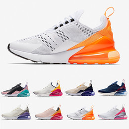 sapatos fúcsia Desconto Nike air max 270 shoes Cheap women Running shoes White pink Mowabb Washed Coral Space Purple Training Outdoor Sports womens Trainers Zapatos Sneakers
