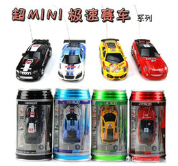 micro carro rc Desconto Nova 8 cores Mini-Racer Coca-Cola Carro de Controle Remoto Pode Mini Rádio RC Controle Remoto Micro Racing 1:64 Ca