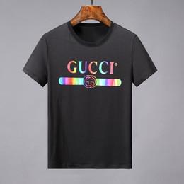 2efa9af1 design clothing logo Coupons - 19ss designs metal logo print T-SHIRT Men  shirts Italy
