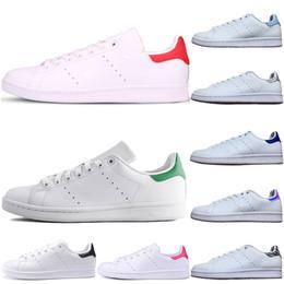 pisos de diseño dama Rebajas Adidas stan smith Original smith casual hombre zapatos damas diseñador verde tripler negro blanco azul rojo rosa plata para hombre stan zapato de cuero zapatillas de deporte 36-44