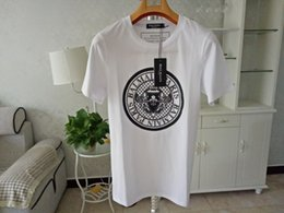 Bal ma em Mens Designer T Camisas Preto Branco Design Da Moeda Mens Designer de Moda Camisetas Top de Manga Curta S-XXL de Fornecedores de ma curta