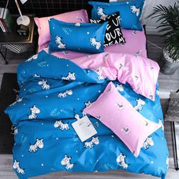 Copertine di cuscino di stampa zebra online-Biancheria da letto Outlet Zebra Set biancheria da letto Copripiumino stampato Set rosa blu Copripiumino per animali Twin Twin Queen King Home