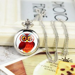 aa5663910 Lucky Owl Pocket Watch Enamel Cover Children's Pocket Watches Quartz & Fob  Watch for Kids Lovely Christmas New Year Gift