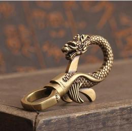 scultura di piombo Sconti STATUA DI RAME Artigianali di piombo scultura di zodiaco drago piccoli ornamenti