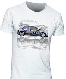 Kit renault online-Camiseta Renault Clio Williams Maxi Kit Car Diac Francia Hombres Camiseta 2019 Verano Algodón Hombres Moda Ocio Camiseta Logo
