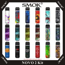 2019 nouvelle arrivée e cigarettes kit SMOK Novo 2 Kit Cartouches pour pods 800 mAh 2 ml à mailles 1.0ohm DC 1.4ohm MTL Kits système système de gobelets cigarette d'origine 100% E