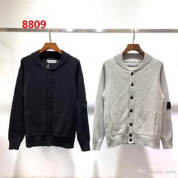 sueter cashmere hombres xxl Rebajas 2019 alta Quolity algodón cuello redondo Cardigan suéter de punto de manga larga con capucha Hip Hop sudaderas isla suéter M-2XL 8809 ePacket