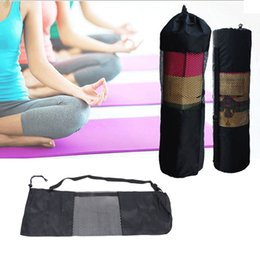 sport carriers Promo Codes - Convenience Black Yoga Backpack Yoga Mat Waterproof Backpack Carrier Mesh Adjustable Strap Sport Tool Gym Bags