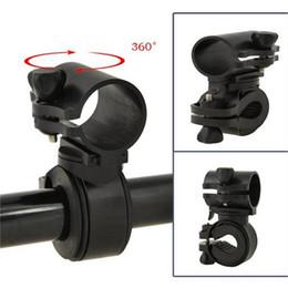 велосипедные хомуты Скидка Многофункциональный регулируемый на 360 градусов поворотный зажим для велосипеда Зажим для велосипеда Фонарик светодиодный фонарик Держатель факела Кронштейн LJJZ53