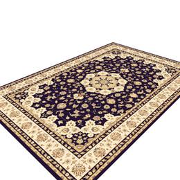 Florale klassische teppiche online-Retro Persian Floral Rug Rutschfester waschbarer Teppich für Schlafzimmer Wohnzimmer Küche 899