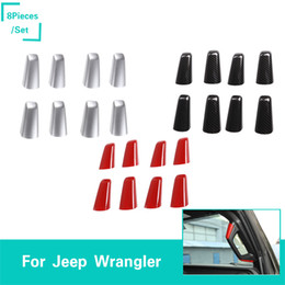 accessories for jeep Coupons - A B Column Handle Decoration Four Door Version For Jeep Wrangler JL 2018 Factory Outlet High Quatlity Auto Internal Accessories