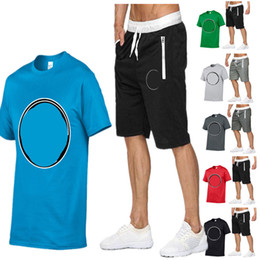 a2ade952fc Mens Designer Tracksuit T shirt + Shorts Two Piece Summer BRAND Outfit GYM  Fitness Sports Suit Streetwear Jogging Set Bodysuit Cloth C52304