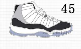 Zapatos cerrados para hombres online-Alto 11s Zapatos de baloncesto de baja calidad Ceremonia de clausura criada en piel de serpiente azul Goma azul marino Hombres 11 UNC Cherry Varsity Rojo Esmeralda Zapatillas