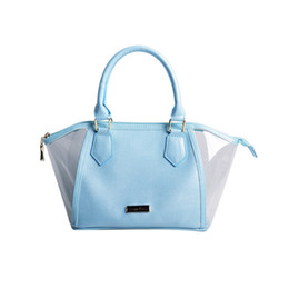 Bolsas azuis bonitos on-line-Bolsa azul retro simples forma menina bonito