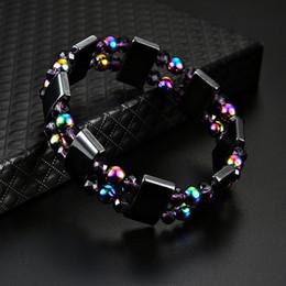 2019 bracelets en cristal d'hématite Multicolor Pierre Naturelle Hématite Magnétique Santé Bracelet Pour Femmes Hommes Noir Magnétite Malachite Puissance Cristal Guérison Bracelet promotion bracelets en cristal d'hématite