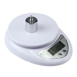 Kitchen postal scale on-line-5000g / 1g LEVOU Escala Eletrônica Food Diet Postal Cozinha Digital de Medição de Balanças Balança Eletrônica balanças KKA7092