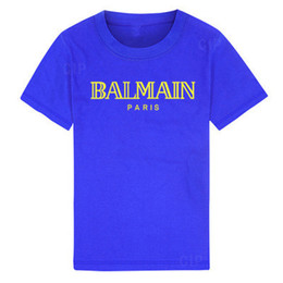 12-jährige kinderkleidung online-2019 New Luxury designer Kinder Shirts marke 2-12 jahre alt jungen mädchen T-shirts r shirt Tops baumwolle kinder Tees kinder Kleidung 4 farben OTYRE