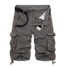 pantalones cortos del camuflaje del mens Rebajas Pantalones cortos de carga para hombre 2019 nuevo ejército camuflaje pantalones cortos tácticos hombres de algodón trabajo suelto pantalones cortos ocasionales más tamaño