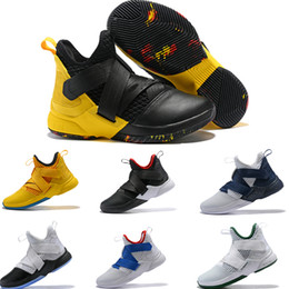 the latest 58cb0 3c262 2019 Soldier 12S Mens Basketball Shoes Purple Blue Olive Green Lakers Black  Bred Snakeskin Youth Kids XII Sneakers Boots EUR40-46 discount soldier boot  ...