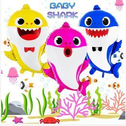 Baby Shark Helium Folienballon 49 * 66 cm Birthday Party Supplies Dekorationen Bayby Shower Kinder Globos Birthday Party Supplies Decoratio von Fabrikanten