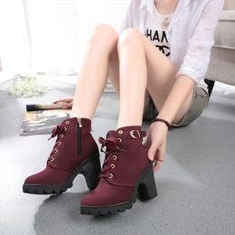 de piel de leopardo en el interior de encaje hasta las botas de nieve de las mujeres de la PU de la plataforma de los zapatos de nieve botas de felpa