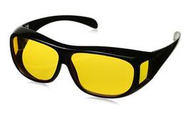 lunettes de soleil à lunette jaune night drive Promotion HD vision nocturne conduite lunettes de soleil hommes jaune lentille sur enveloppant lunettes foncé conduite lunettes de protection anti-reflets 1000 paires