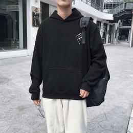 элемент hoodies Скидка Мужская толстовка с капюшоном граффити шаблон шикарный стильный популярные элементы личности толстовка с капюшоном ветер пальто мужской корейской версии тенденции хип ч