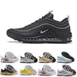 Nike Air Max 97 97s Anthracite Amarillo Throwback Future Laser Fuchsia Red Leopard Hombres Zapatos Para Correr Triple Blanco Mujer Zapatillas De