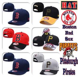 Chapeau de pirate rouge en Ligne-Hommes Femmes Boston Pittsburgh Tricot de haute qualité Casquette de baseball Red Sox Pirates Baseball Hat
