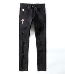 Argentina 2019SS Nuevo FF Jeans Denim Biker recto Jeans ajustados Pantalones casuales Vaquero Famous Brand FF Zipper Designer Hot Sale Mens Designer Jeans Suministro