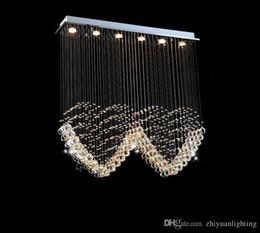 lâmpadas de jantar Desconto K9 CONDUZIU as luzes de cristal do coração luzes de casamento moderno lâmpada romântica roon jantar luminárias L1000 * W200 * H1000MM