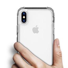 2PCS / iPhone libera il trasporto 11 X XR XS Max 8 7 6S più l'argomento Moda antiurto Bumper trasparente del telefono del silicone trasparente protettivo B da bordatura in plastica nera fornitori