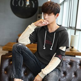 2019 mens koreanische jacke hoodie Pop2019 Frühlingsmuster Auch Hoodie Coole Zeit Pullover Mann Trend Jacke Lose Mantel Korean Student Mens Wear Y46 günstig mens koreanische jacke hoodie